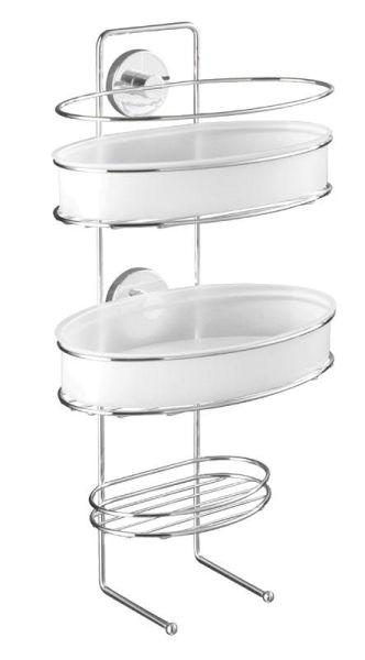 Duschdiener mit drei Ablagen zur Befestigung ohne Bohren