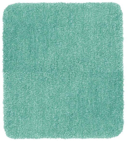 MELANGE Turquoise Badteppich, 55x65 cm, fusselfrei