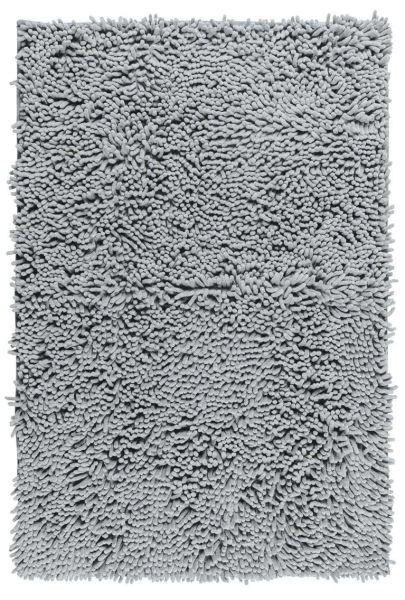CHENILLE Light Grey Badteppich, 50x80 cm, samtweich