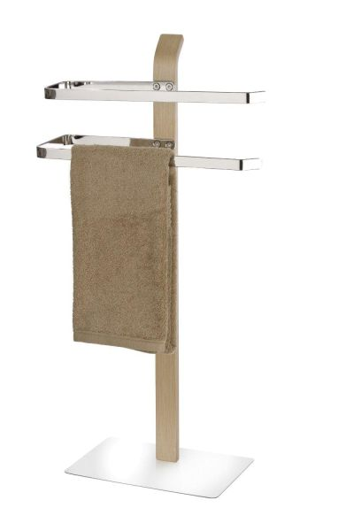 Schöner Handtuchständer aus Schichtholz mit standfester Bodenplatte
