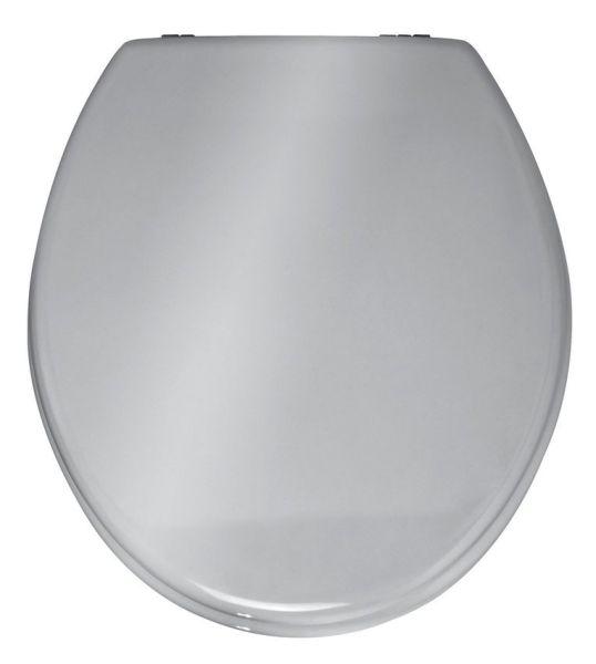 PRIMA Silber glänzend WC-Sitz Edelstahlscharniere