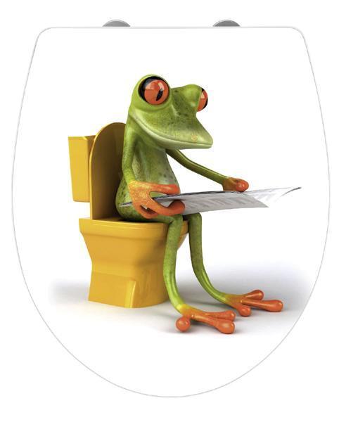 wenko toilettendeckel frog news aus duroplast mit. Black Bedroom Furniture Sets. Home Design Ideas