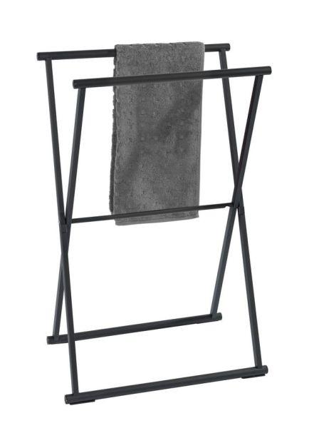 LAVA schwarz matt Handtuchständer, klappbar