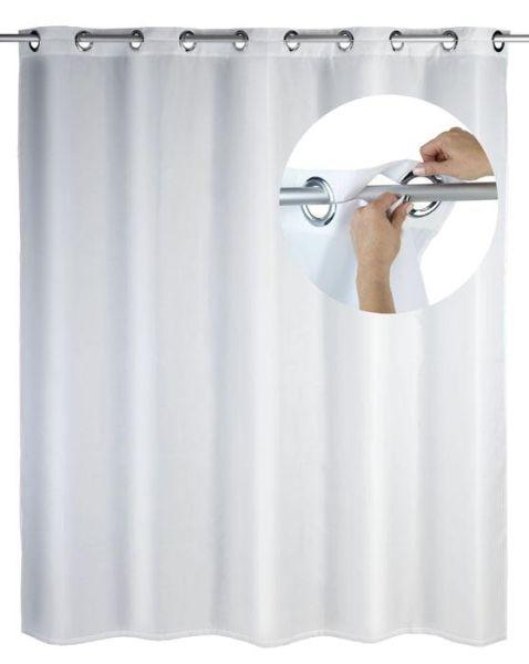 Duschvorhang Comfort Flex in weiss mit integrierten Ringen