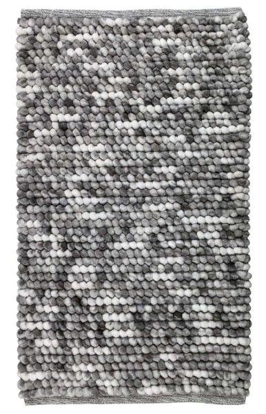 URDU Grau Badteppich, 90x60 cm, fusselfrei