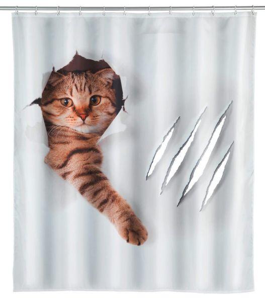 CUTE CAT Duschvorhang, 180x200 cm, waschbar