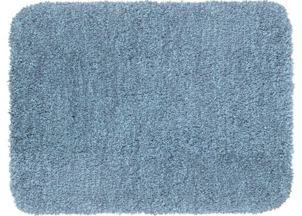 MELANGE Marine Blue Badteppich, 55x65 cm, fusselfrei