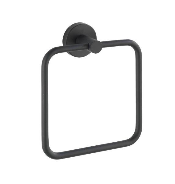 BOSIO Black matt Handtuchring, Edelstahl