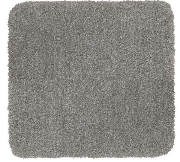 MELANGE Light Grey Badteppich, 55x65 cm, fusselfrei