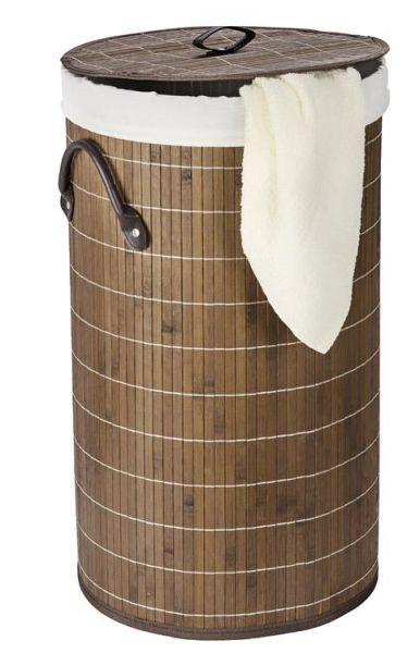 Wäschetruhe Bamboo aus dunkelbraunen Bambus-Holz
