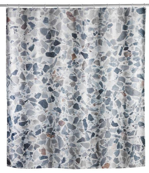 TERRAZZO Duschvorhang, 180x200 cm, waschbar