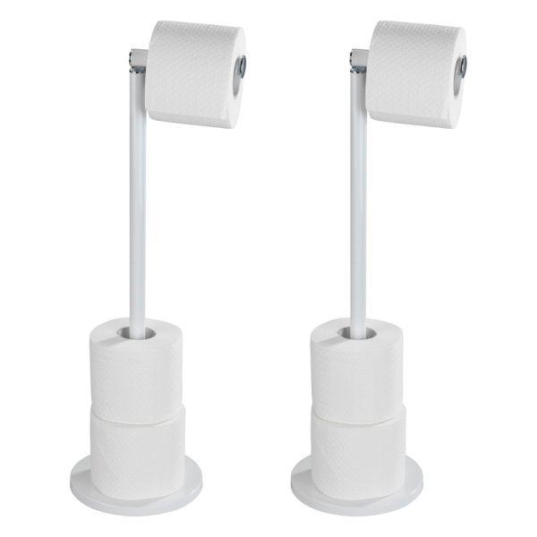 Toilettenpapierhalter 2 in 1 weiß, 2er-Set