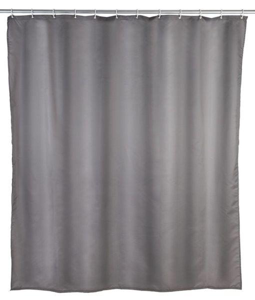 UNI grau Duschvorhang, 240 cm breit, waschbar