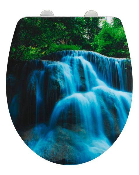 WATERFALL WC-Sitz Hochglanz Acryl mit Absenkautomatik