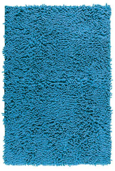 CHENILLE Ocean Blue Badteppich, 50x80 cm, samtweich