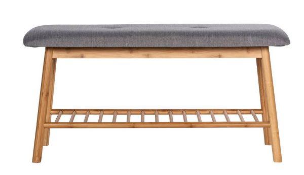 BAHARI Sitzbank mit Ablage aus Bambus