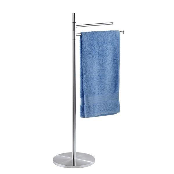 Klassischer Handtuchhalter aus satinierten Edelstahl