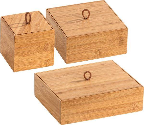 TERRA Box mit Deckel aus Bambus, 3er-Set