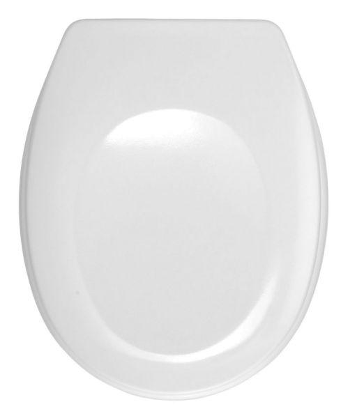 BERGAMO weiss WC-Sitz mit Edelstahlscharnieren