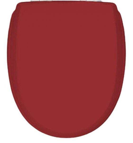 WC-Sitz KAN 3001 Classic in rot mit Kunststoff-Scharnieren
