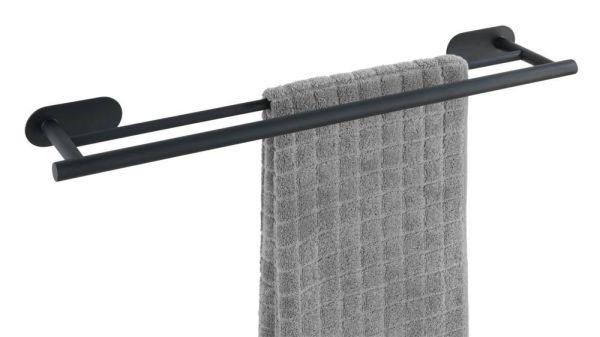 Duo OREA Black Turbo-Loc®, 60 cm Badetuchstange