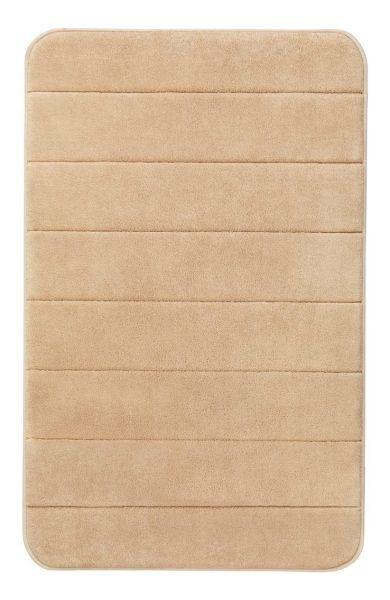 STRIPES Sand Badteppich, 50x80 cm, Memory-Schaum