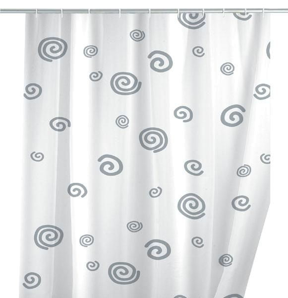 Moderner Duschvorhang mit stilisierten Schnecken