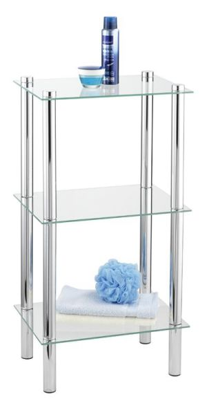 Edles Badregal für das Bad mit drei Glasablagen