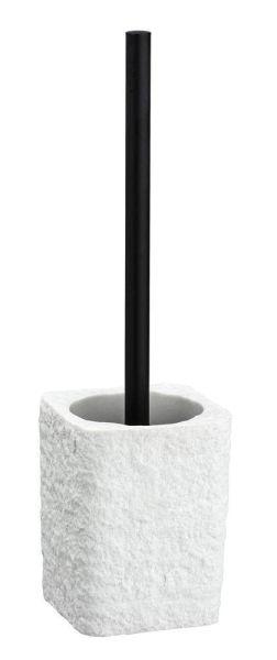 VILLATA weiss WC-Garnitur in Steinoptik