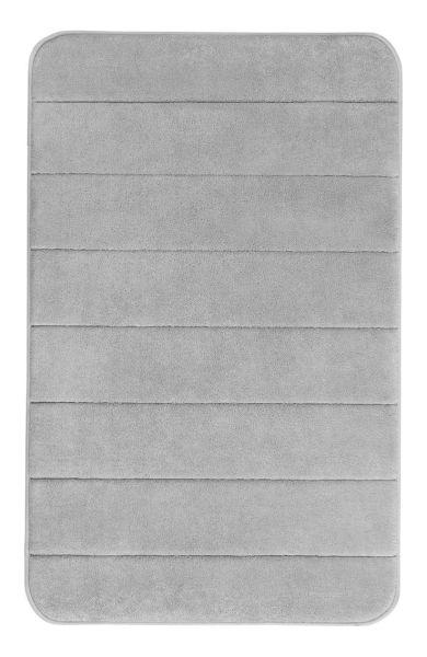 STRIPES Grey Badteppich, 50x80 cm, Memory-Schaum