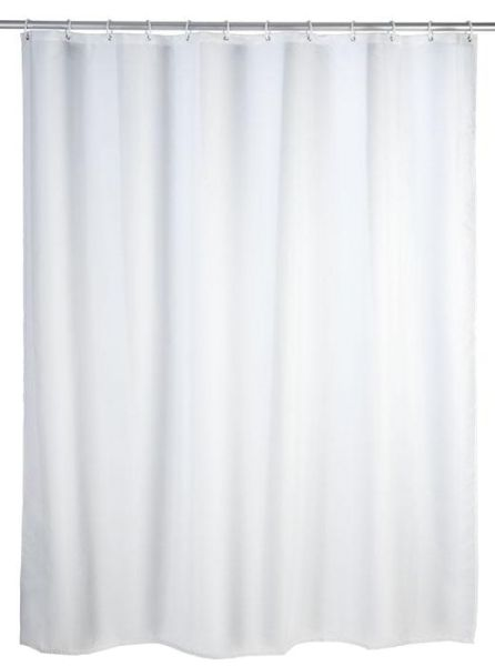 Klassischer Duschvorhang in weiss mit antibakterieller Beschichtung