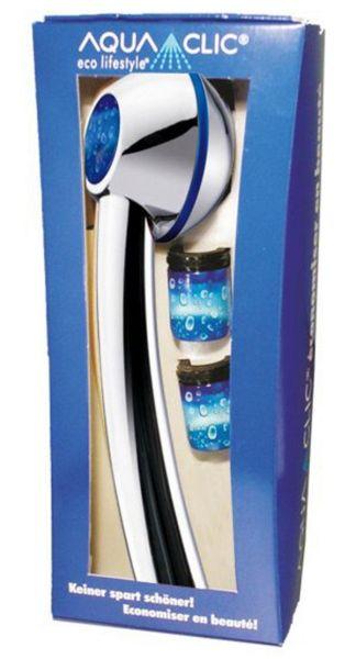 Wasserspar-Set mit Sparbrause Clima Chrom Raindrops