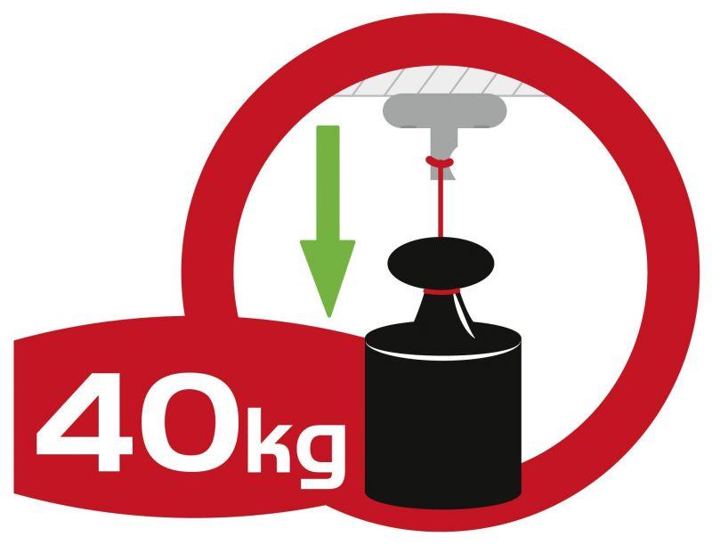 Sofort belastbar mit bis zu 40 kg