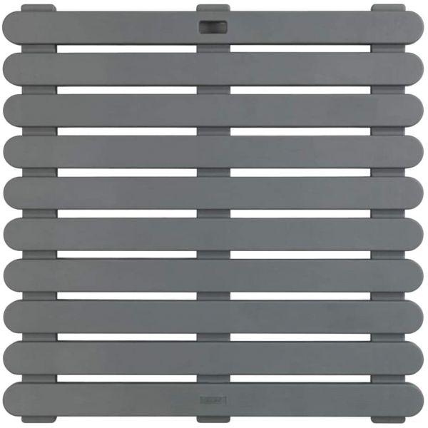 INDOOR & OUTDOOR grau Duschmatte, 55x55 cm