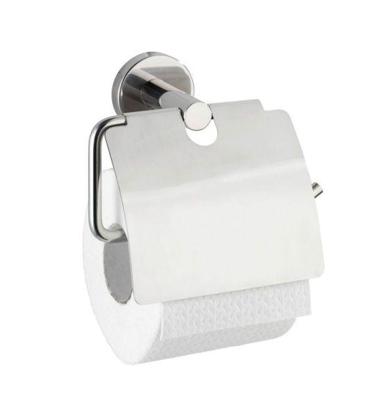 BOSIO Toilettenpapierhalter mit Deckel, Edelstahl