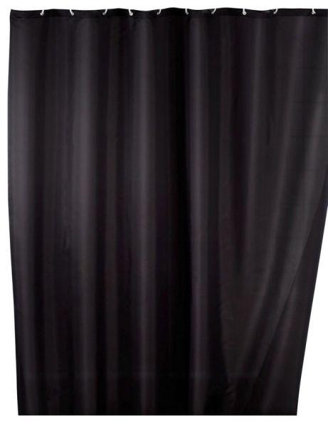 UNI black Duschvorhang, 180x200 cm, Anti-Schimmel
