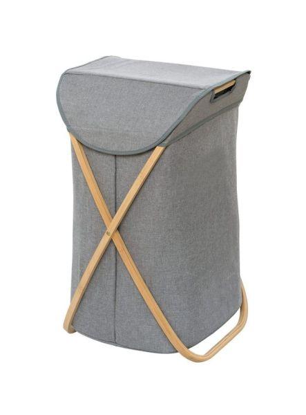 BAHARI Wäschesammler aus Bambus, faltbar
