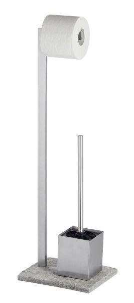 Moderne Bürstengarnitur GRANIT aus Edelstahl von Wenko