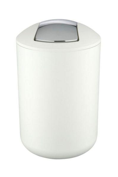 BRASIL Weiss L Schwingdeckeleimer, 6,5 Liter