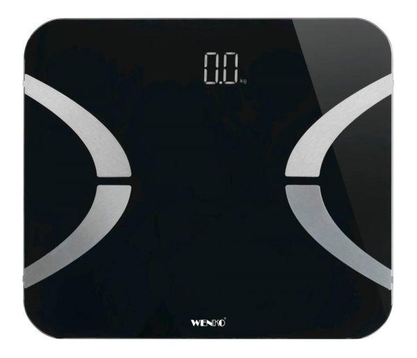 LED schwarz Körperfettwaage mit Bluetooth