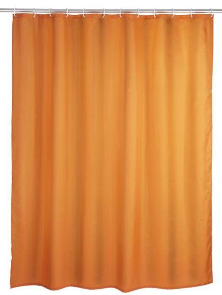 Klassischer Duschvorhang in orange mit antibakterieller Beschichtung