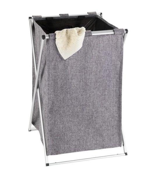 UNO grau meliert Wäschesammler, faltbar
