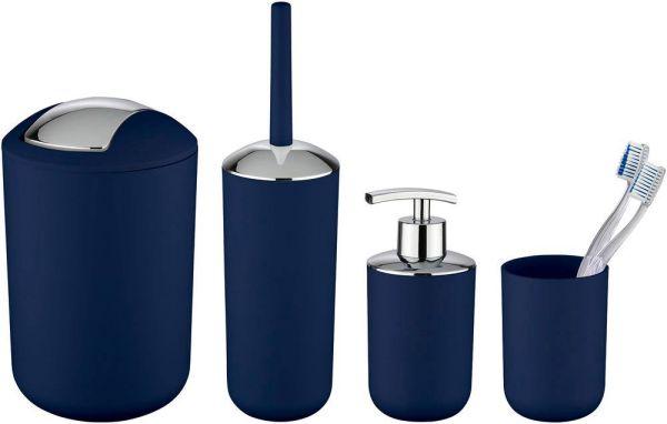BRASIL dunkelblau, Badzubehör-Set, 4-teilig