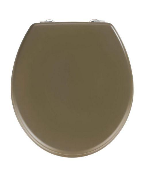 PRIMA Taupe Matt WC-Sitz mit Edelstahlscharnieren