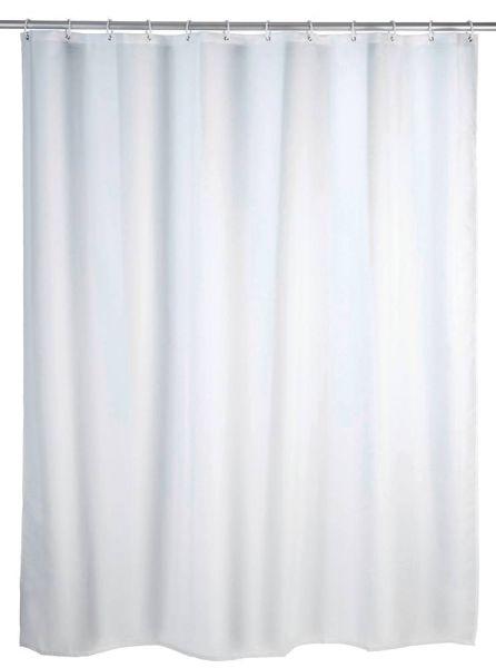 UNI weiss Duschvorhang, 180x200 cm, waschbar