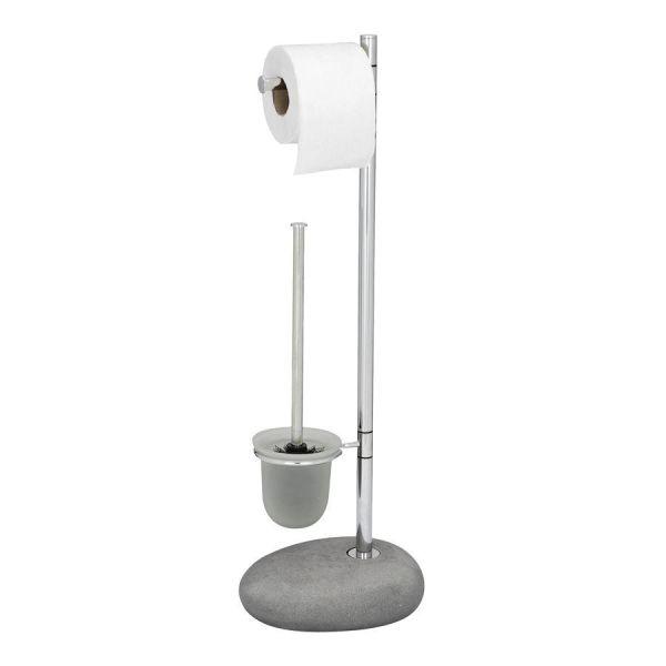 Witzige Bürstengarnitur mit Standfuß in Stein-Optik