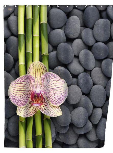 Duschvorhang mit Orchideen-Motiv