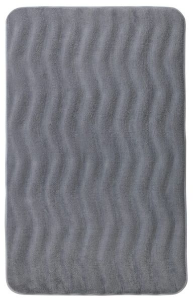 WAVES Hellgrau Badteppich, 50x80 cm, Memory-Schaum