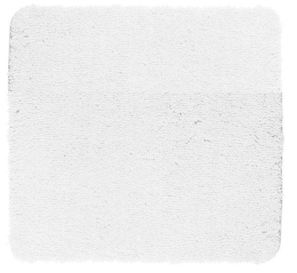 BELIZE Weiss Badteppich, 55x65 cm, fusselfrei
