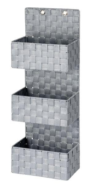 Moderner Organizer aus Kunststoff-Geflecht in grau